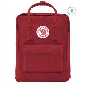 dark red fjallraven kanken backpack 16L